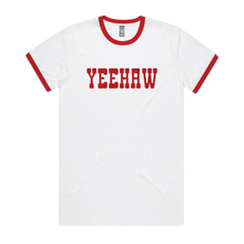 Load image into Gallery viewer, Front design of Unisex Yeehaw Ringer tee - Imprint Merch - E-commerce