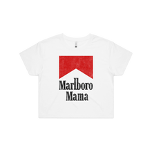 Load image into Gallery viewer, Front design of Marlboro Mama Crop Tee - Landlocked Apparel - Imprint Merch - E-commerce