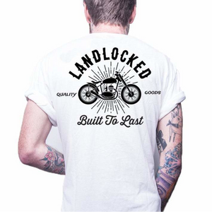 Front design of Riders Tee - White - Imprint Merch - E-commerce
