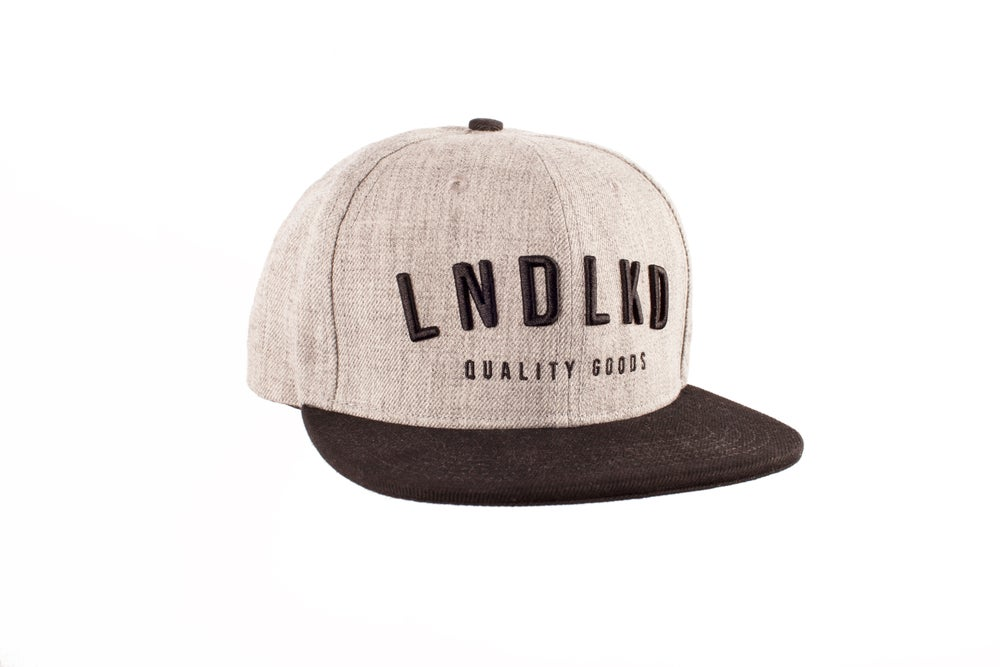 LNDLKD Snapback - Heather Grey/ Black
