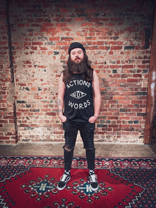 Actions Not Words tank