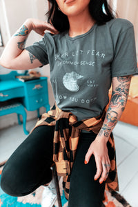 Never Let Fear Or Common Sense Slow You Down Womens Vintage Tee