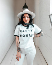 Load image into Gallery viewer, Nasty Woman Unisex Ringer Tee