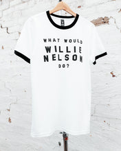 Load image into Gallery viewer, What Would Willie Nelson Do Ringer tee
