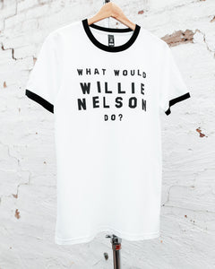 What Would Willie Nelson Do Ringer tee