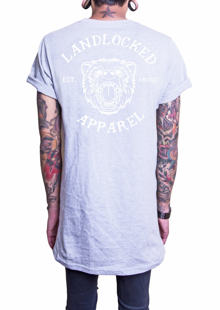 Bear Tee - Heather Grey