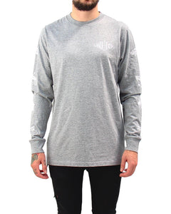 Unisex Camp Long Sleeve Tee - Heather Grey