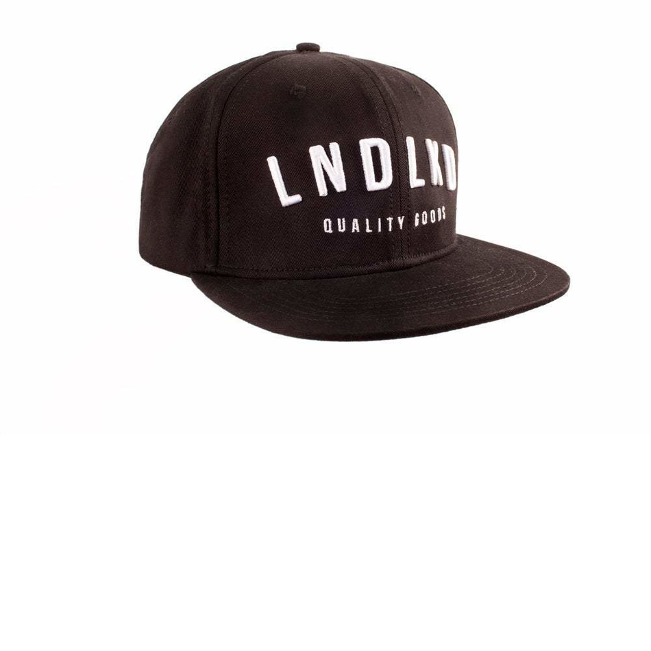 Front design of LNDLKD Snapback - Black - Imprint Merch - E-commerce