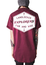 Load image into Gallery viewer, Explorer Tee - Burgundy