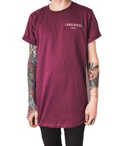 Fortune Favours The Brave Tee - Burgundy