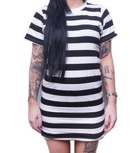 Load image into Gallery viewer, Landlocked Ladies Tee Dress - Stripe
