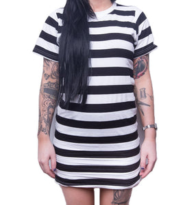 Landlocked Ladies Tee Dress - Stripe