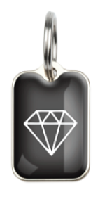 Diamonds Pet ID Tag