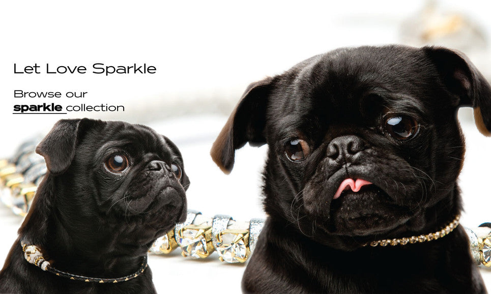 Sparkle wedding collars for dogs