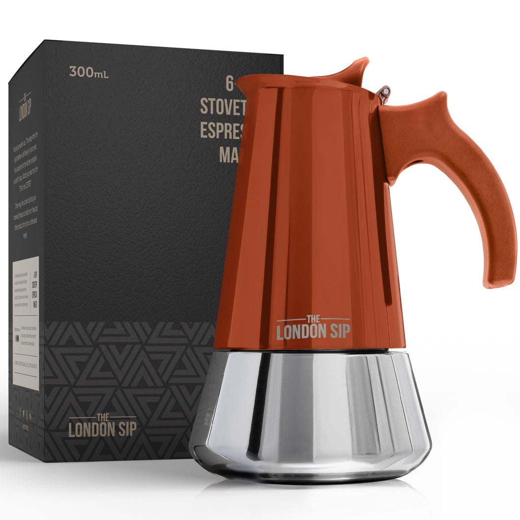 Help Reduce Our Waste - Induction Stovetop Espresso Maker (Copper, 6 cup - Tiny defects)
