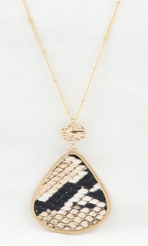 Tan Snakeskin Necklace