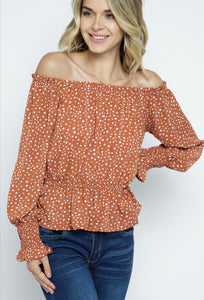 Fall Into Me Off Shoulder Top