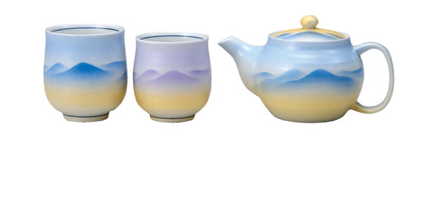 japanese tea pot and tea cups set