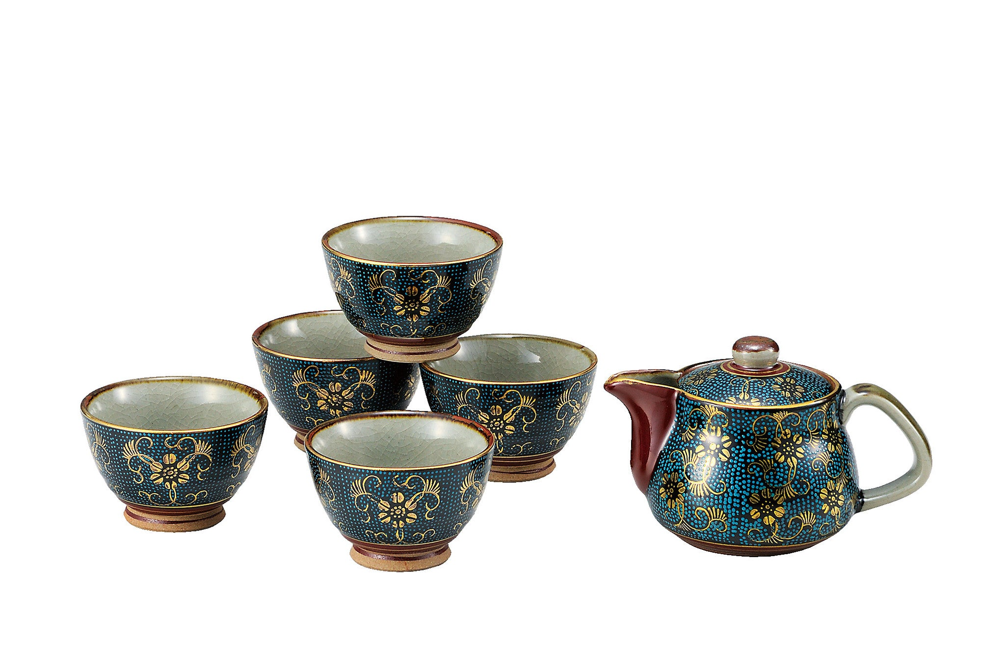japanese tea set kutani