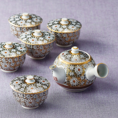 japanese tea pot cups set