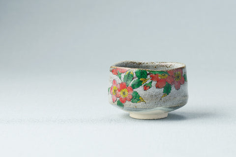 japanese matcha tea bowl cherry blossom