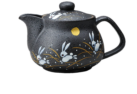 japanese teapot tea pot moon rabbit