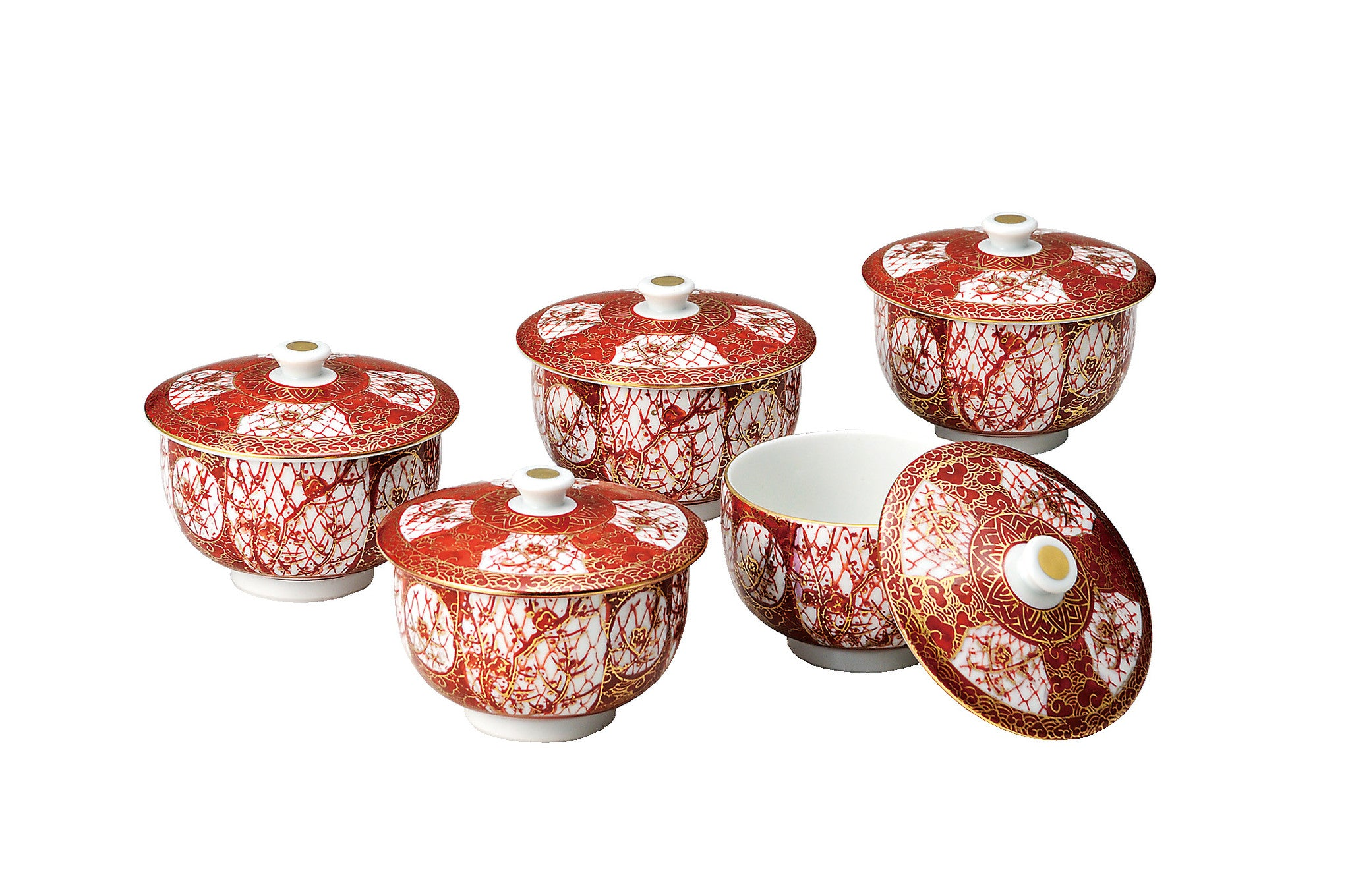 japanese tea cups set with lids