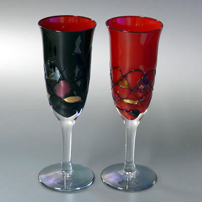 Japanese lacquer ware  wine glass