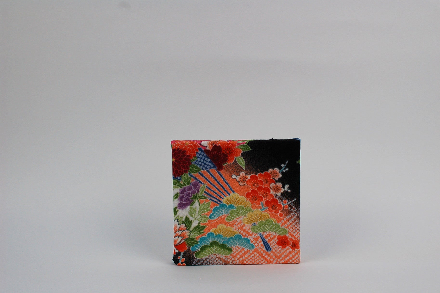 Kimono Art Panel Black Fan Mini