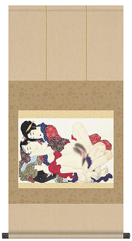 japanese erotic art shunga hanging scroll ukiyo-e