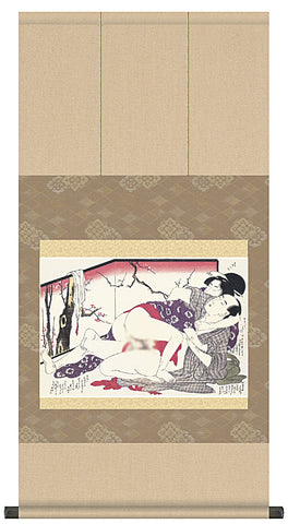 ukiyo-e japanese hanging scroll erotic art shunga