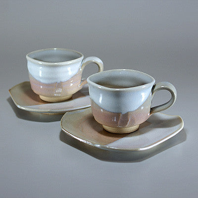Japanese Hagiyaki Coffee Cups Sets