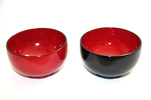 urushi lacquer ware soup rice bowl