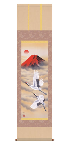 japanese hanging scroll mt fuji