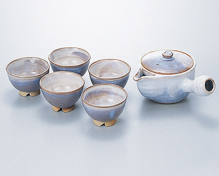 japanese tea sets hagi ware