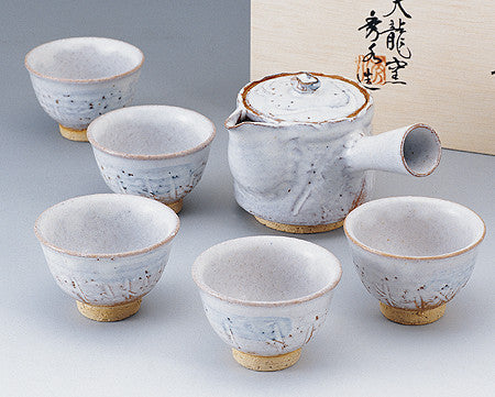 hagi japanese tea set