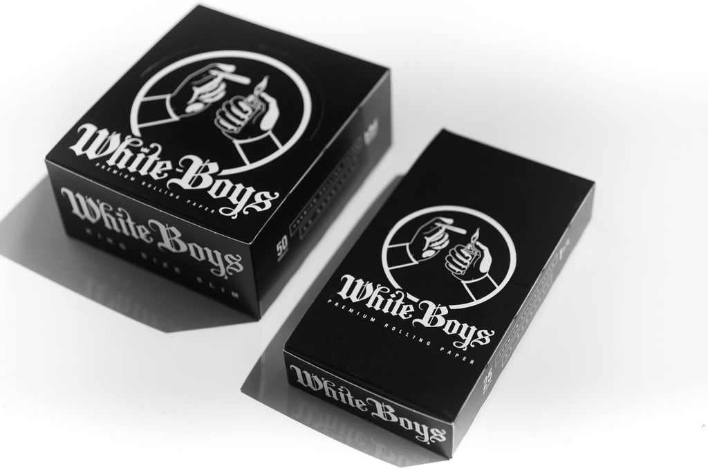 White Boys Premium Rolling Paper BOX. Size: King Size Slim