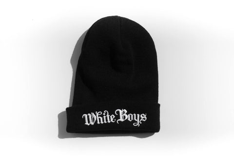 Beanie White Boys: Black