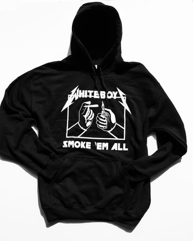 HOODIE SMOKE EM ALL LIMITED EDITION: Black