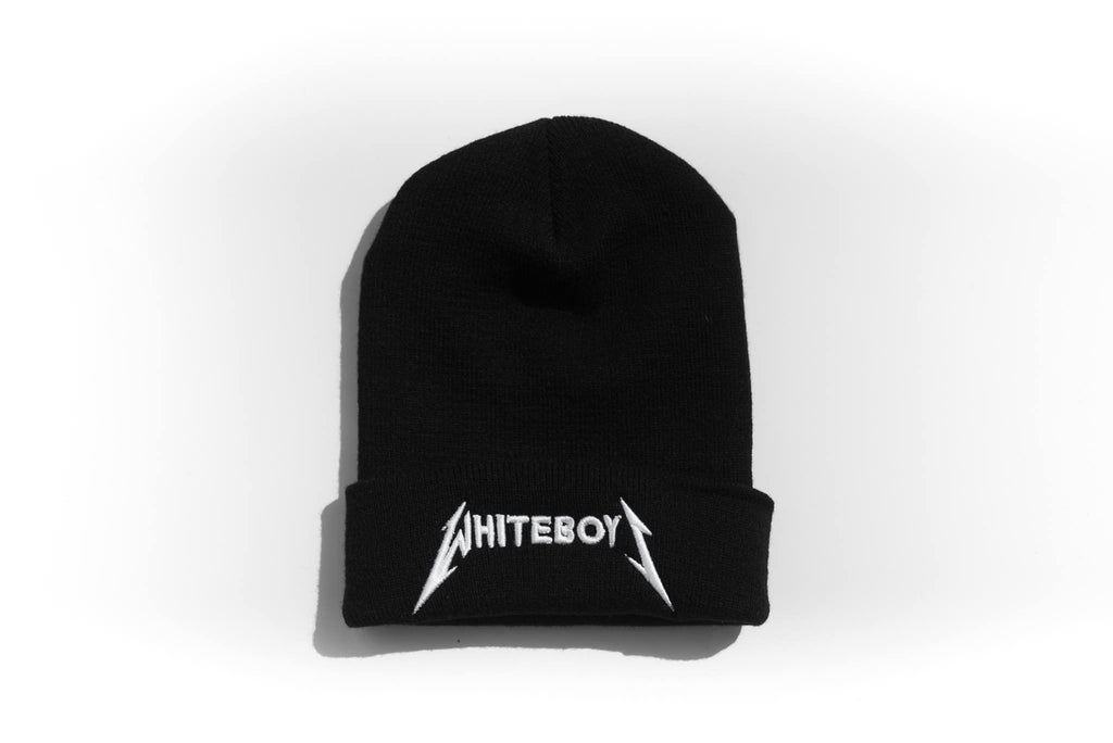 Beanie White Boys Metal Head (LIMITED EDITION) : Black