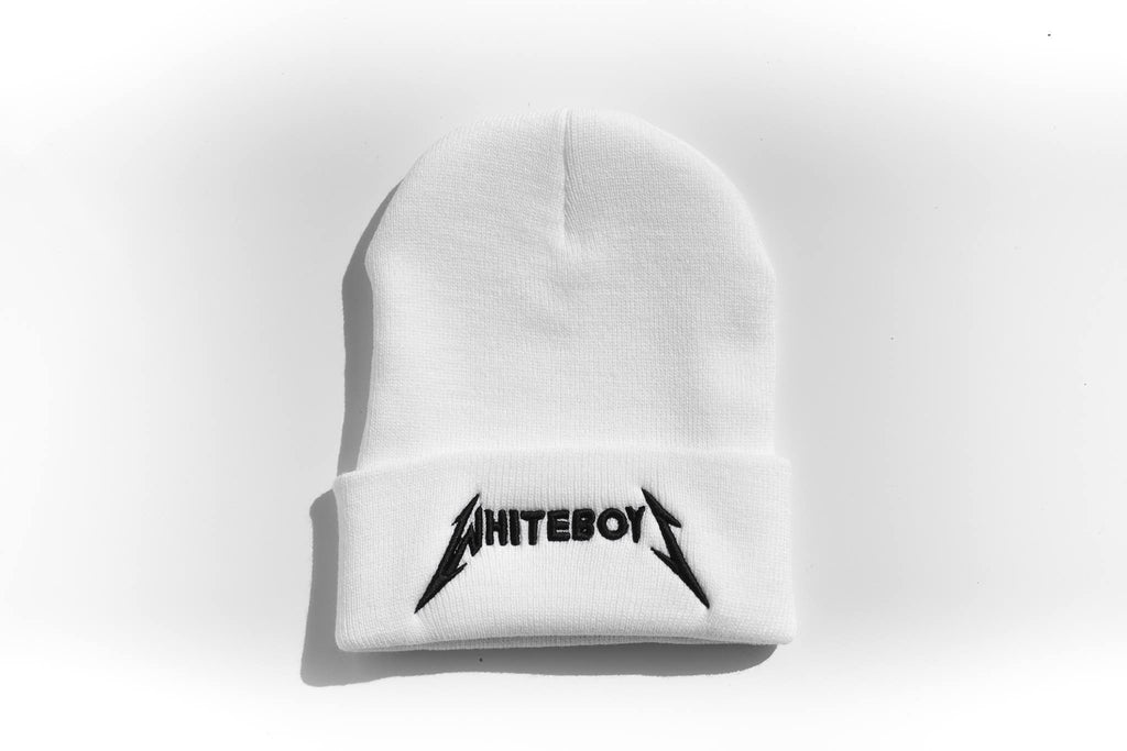 Beanie White Boys Metal Head (LIMITED EDITION): White