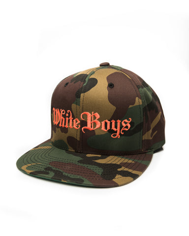 CAMO SNAPBACK ORANGE EMBROIDERY