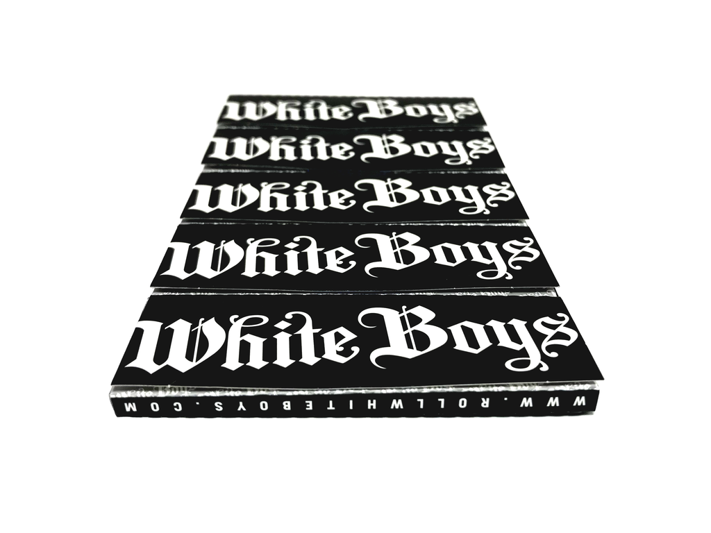 "WHITE BOYS PREMIUM ROLLING PAPERS - 1 ¼"" STANDARD SIZE - 10 BOOKLETS"
