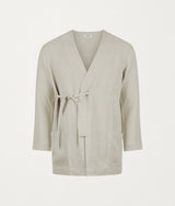 NATURAL ITALIAN LINEN ROBE - COMMAS
