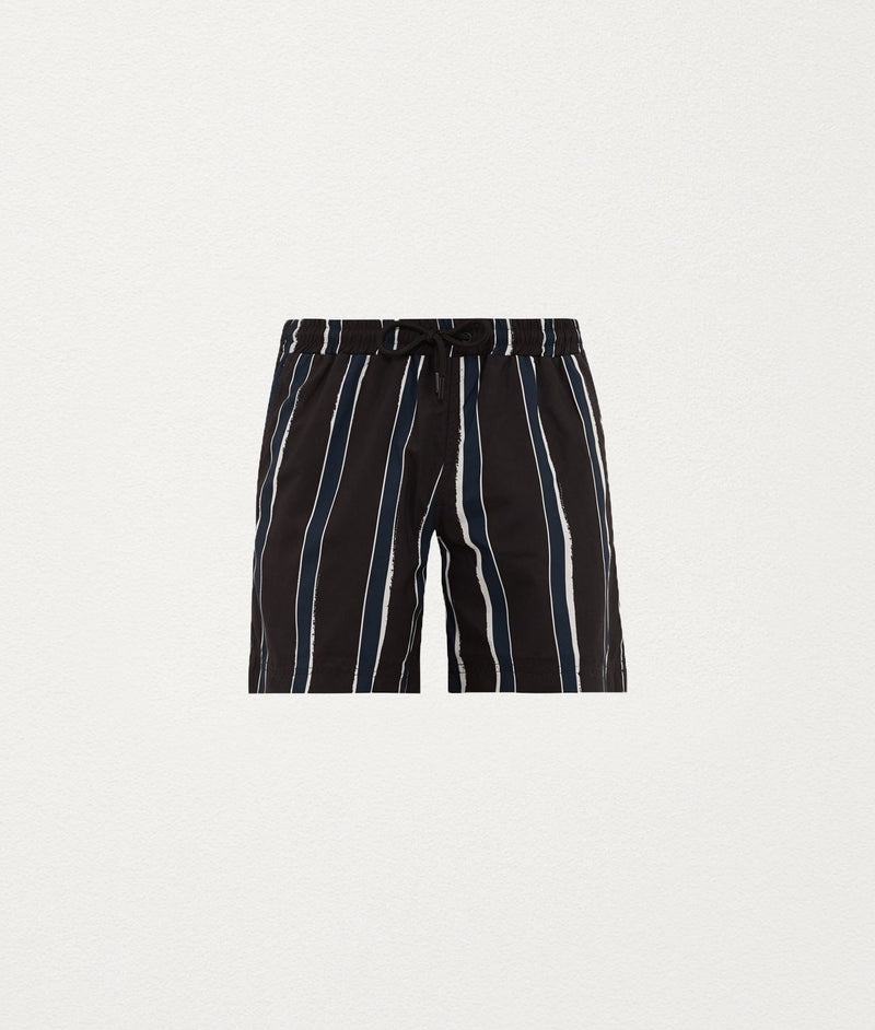SLATE STRIPE CLASSIC SWIM SHORT - COMMAS