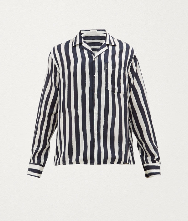 PAINTED STRIPE Silk Shirt - COMMAS