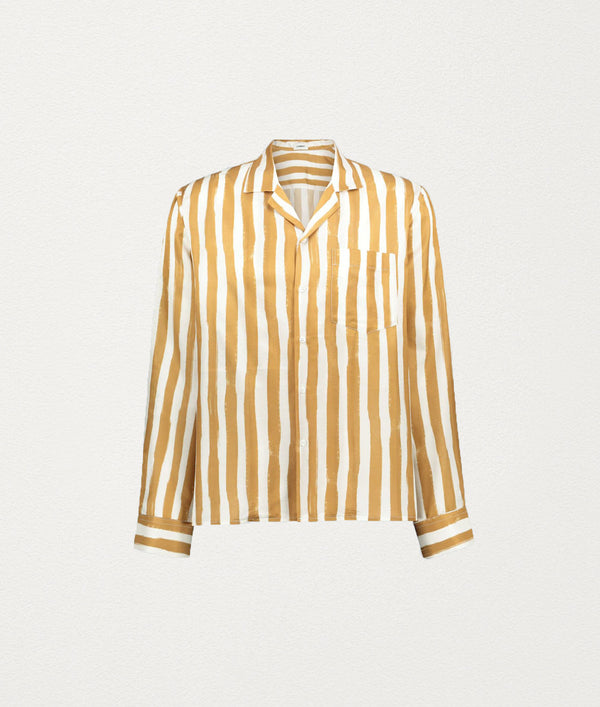 CHAMPAGNE STRIPE Silk Shirt - COMMAS