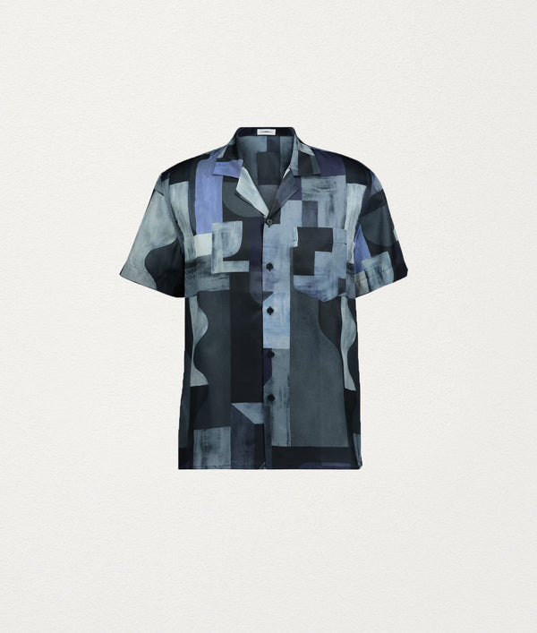 BLUE WINE SHORT SLEEVE SHIRT - COMMAS