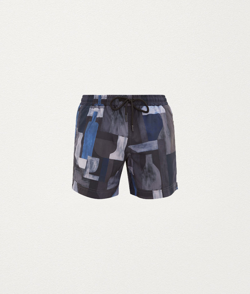 BLUE WINE CLASSIC SWIM SHORT - COMMAS