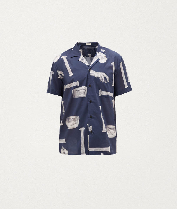 COLOSSUS NAVY SHORT SLEEVE SHIRT - COMMAS
